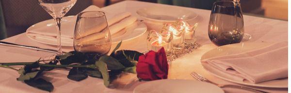 Mesas con amor para San Valentín