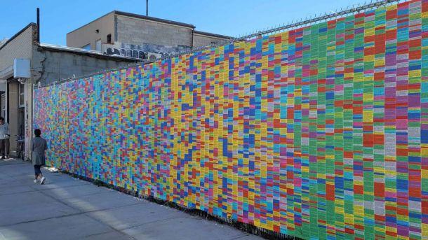 El curioso muro de las mentiras de Donald Trump en Nueva York