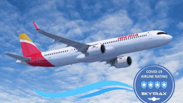 Iberia consigue 4 estrellas de Skytrax por sus medidas frente al Covid-19