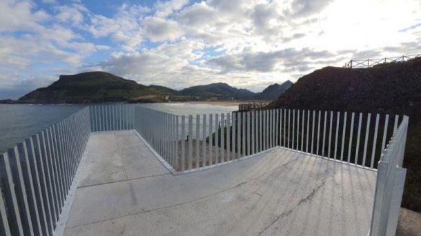 Muskiz: El municipio vizcaíno inaugura mirador en el cargadero minero de El Castillo, Itsaslur